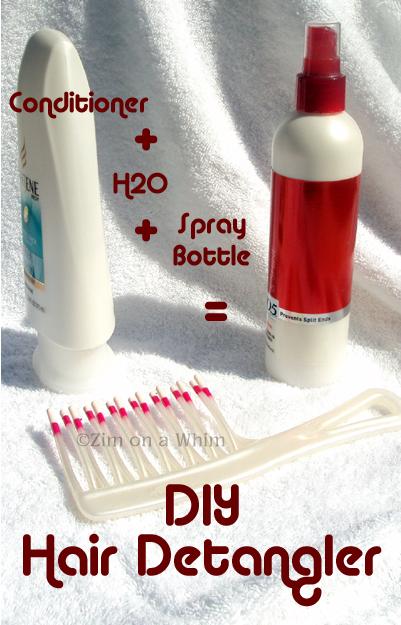 how to make homemade detangler spray