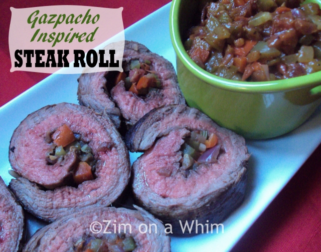 Gazpacho Inspired Steak Roll