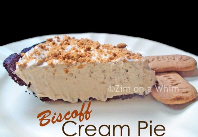 Biscoff Cream Pie | Zim on a Whim