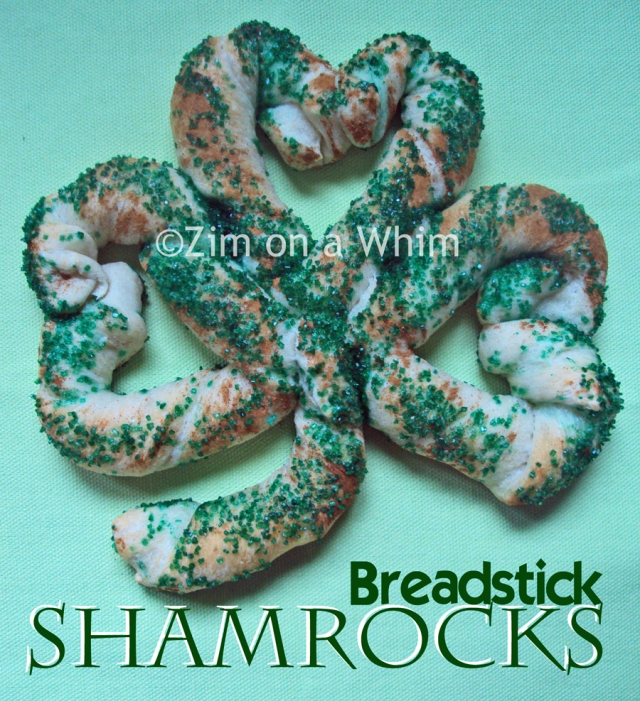 Breadstick Shamrocks | Zim on a Whim