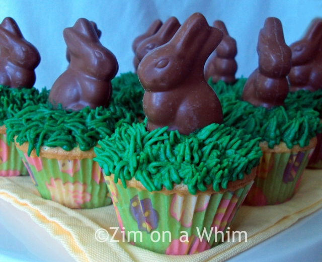 Easter Bunny Cupcakes | Zim on a Whim