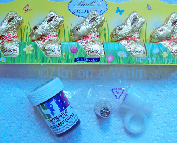 Supplies for Easter Bunny Cupcakes