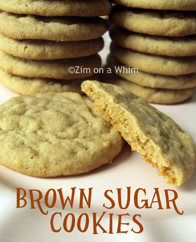 Brown Sugar Cookies :: Zim on a Whim
