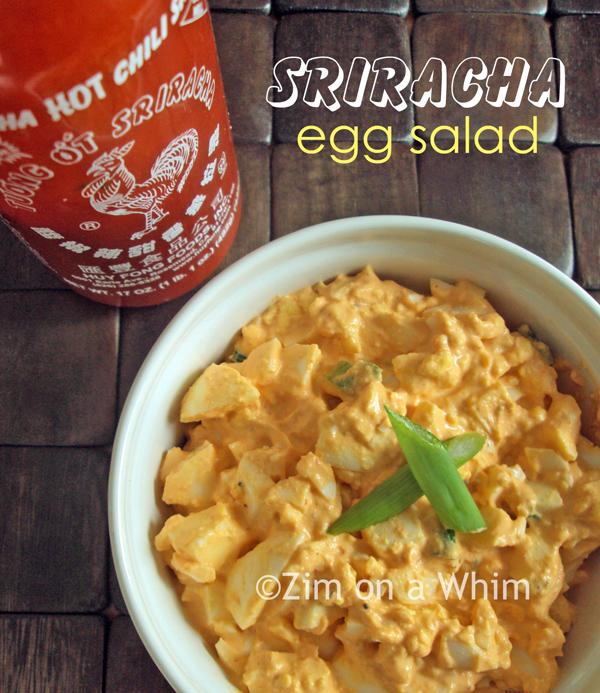 Sriracha Egg Salad :: Zim on a Whim