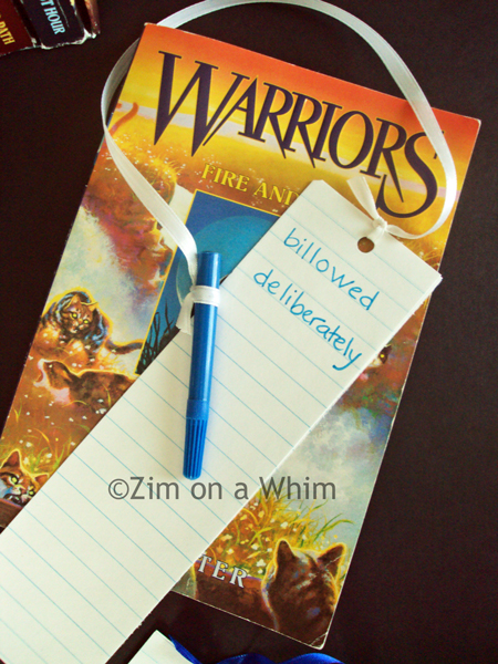 Look It Up Bookmarks :: Zim on a Whim