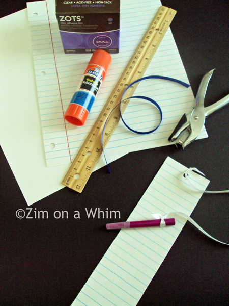 Look It Up Bookmark :: Zim on a Whim