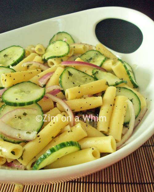 Cool Cucumber Pasta :: Zim on a Whim